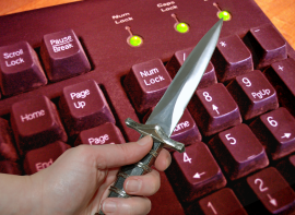 Knife on Keyboard