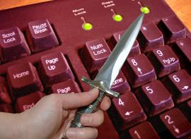 Knife on Keyboard