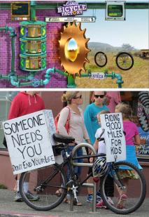 Cadbury and Grassroots bike