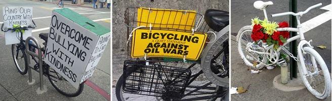 Three example bicycles