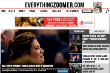 Image of Everything Zoomer website as example.