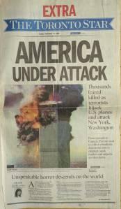 Toronto Star 9/11 cover